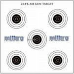 SMK/Milbro 25ft Air Pistol Targets