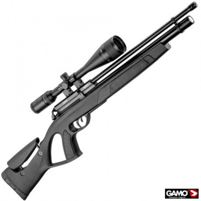 Gamo Coyote Black Tactical PCP Air Rifle .22 Pack
