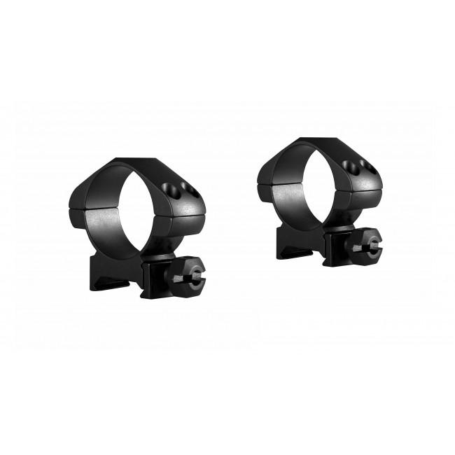 Hawke Precision Steel Ring Mounts Weaver 30mm With Nut Medium