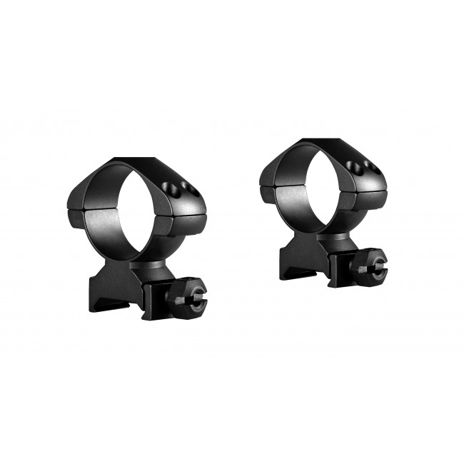 Hawke Precision Steel Ring Mounts Weaver 30mm With Nut High