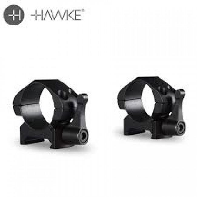 "Hawke Precision Ring Mounts 1"" Low"