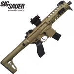 Sig Sauer MPX FDE AirGun With Sig Red Dot Sight - .177