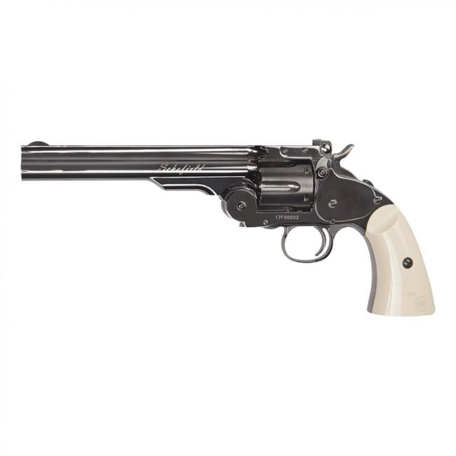 ASG Schofield Steel Grey Finish Revolver .177