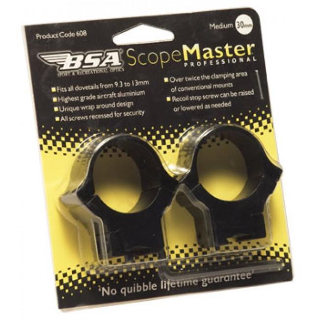 BSA Scope MAster High Mounts 30mm